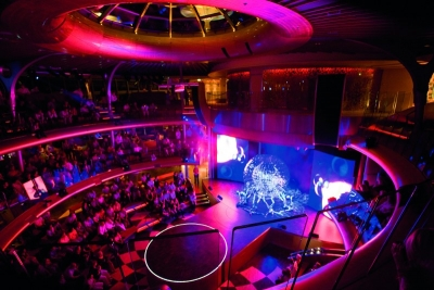 Innovative theatre area aboard AIDA cruise vessel
