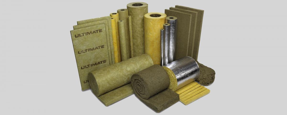 Nossos materiais: ULTIMATE, lã de vidro, lã de rocha