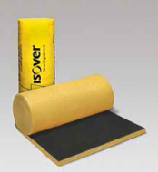 Glasswool black facing