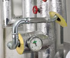 HVAC applications - glass wool pipes